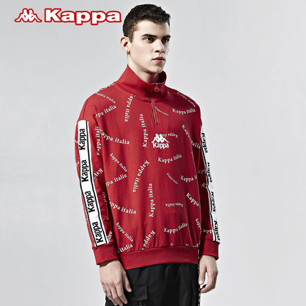 Kappa tay dài Kappa chuỗi đôi tình nhân nam và nữ thể thao áo len áo thun giản dị đứng cổ áo dài tay