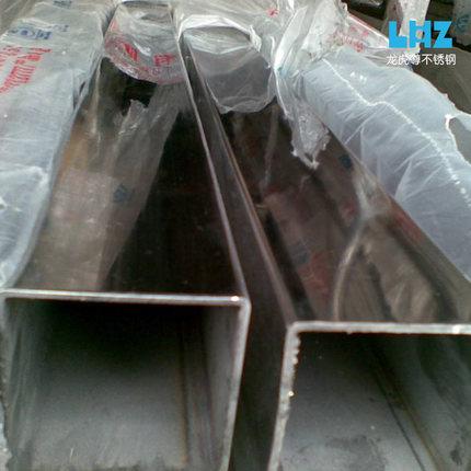 Ống đúc  50 * 50 * 4 ống thép không gỉ vuông / ống hình chữ nhật vẽ trang trí ống hàn sáng công nghi