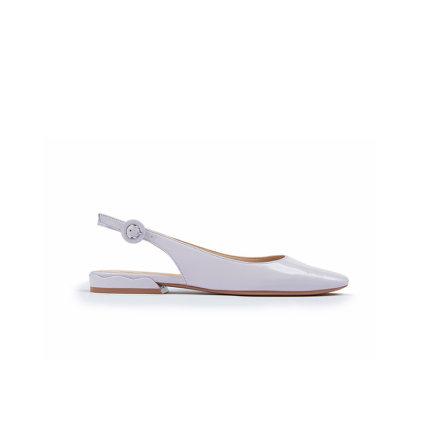 Giày búp bê hở gót đế bệt kiểu dáng đơn giản cho bạn nữ