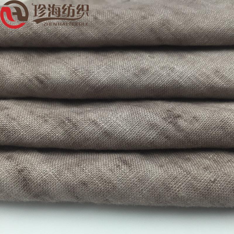 ZHENHAI Vải Linen Trong kho Quần áo vải lanh hai màu Quần vải lanh phù hợp với vải Vải lanh màu vải