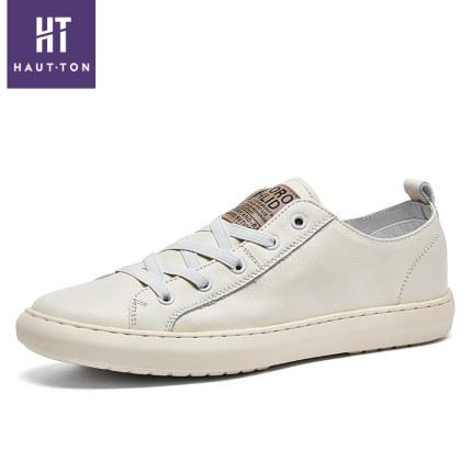 Giày mọi đế thấp Giày nam Hao Dun mùa thu 2019 giày da mới Hàn Quốc Giày lười hoang dã giản dị lái g