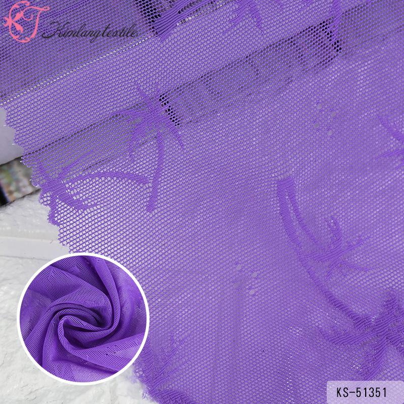 QINLANG Vải Yarn dyed / Vải thun có hoa văn Bán buôn vải jacquard tổng hợp, ren nylon đầy đủ, lưới j