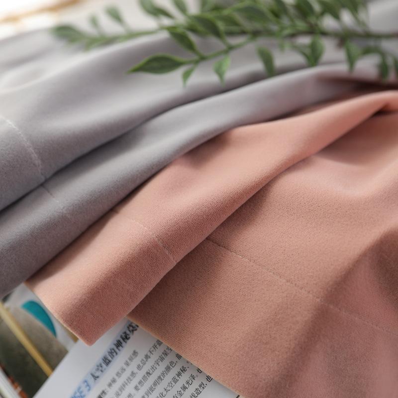 Vải rèm cửa 2019 nhà máy vải mới bán trực tiếp Bắc Âu dày đặc khâu màu hoàn thành nhung bóng