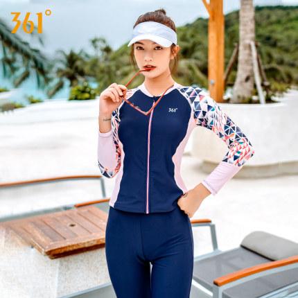 361 Đồ chống nắng mau khô  độ bơi sứa quần áo lặn nữ bảo thủ quần dài tay chống nắng quần áo thể tha