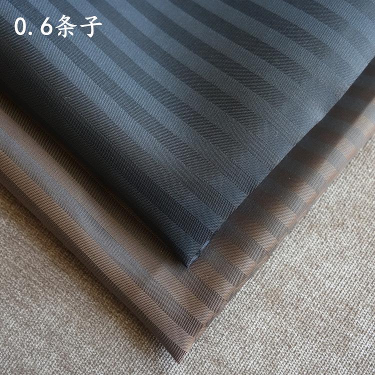 CHUXIAO Vải lót Vải sọc 0,6cm polyester dệt sợi satin nhuộm vải quần áo lót túi