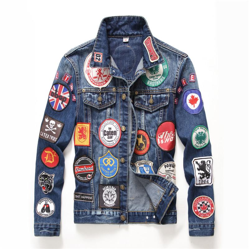 Áo khoác 2017 mùa thu và mùa đông nam mới sờn áo khoác denim mỏng phù hợp với áo khoác nam phong các