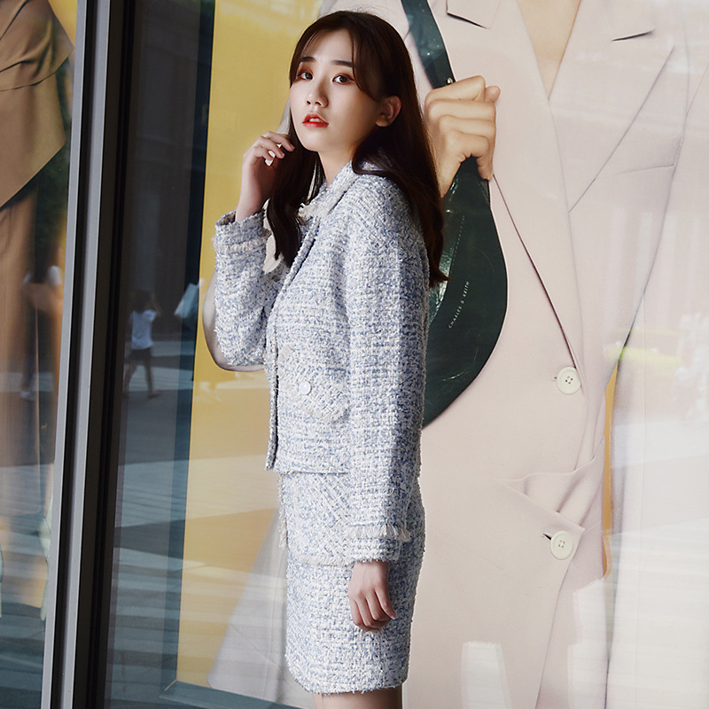 MIKE Đồ Suits Nhà máy chế biến quần áo Quảng Châu Phụ nữ Tweed Hàn Quốc nhỏ thơm chuyên nghiệp Bộ ha
