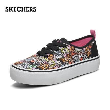 Skechers Giày Sneaker / Giày trượt ván Skechers 2019 mùa thu mới tinh nghịch họa tiết dây đeo giày n