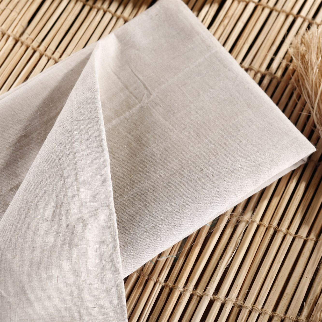 LVZHOU Vải mộc pha Các nhà sản xuất cung cấp nhiều loại vải lanh cotton màu xám trong kho 30X30 vải