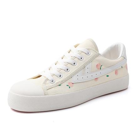 Giày Sneaker / Giày trượt ván Kéo lại đôi giày của phụ nữ ow chung hoa anh đào nổ thay giày đào dâu