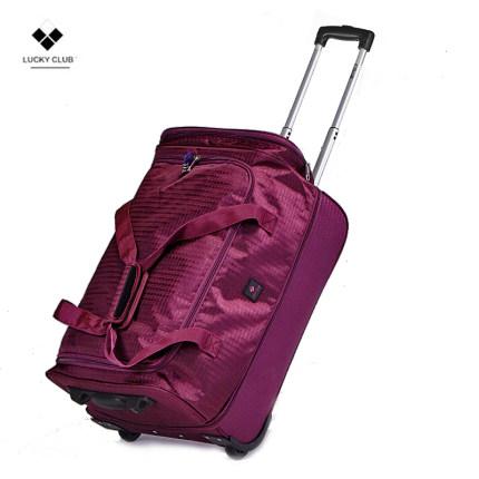 Lucky Club VaLi hành lý  Lucky Club Xe đẩy Ba lô Túi du lịch Phụ nữ và Đàn ông Tay Canvas ngắn-Lớn C
