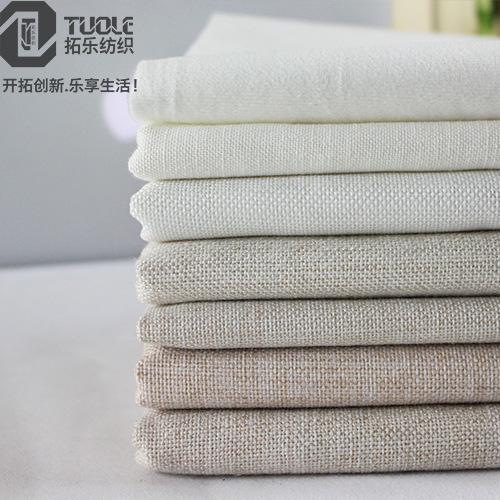 TUOLE Vải Linen Vải lanh màu tinh khiết in bông vải lanh đệm bông vải lanh