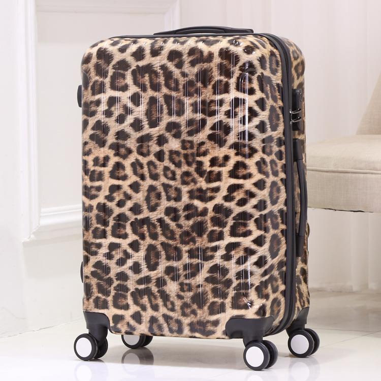 Vali hành lý du lịch PC Leopard có bánh Xe đẩy kiểu dáng dễ thương