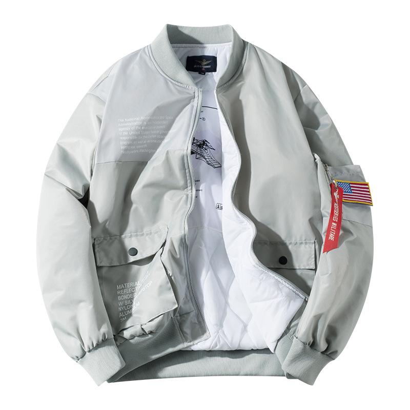 ASSTSeries Áo khoác Mùa thu và mùa đông nam mới áo khoác cotton nam áo khoác cotton trẻ trung đứng l