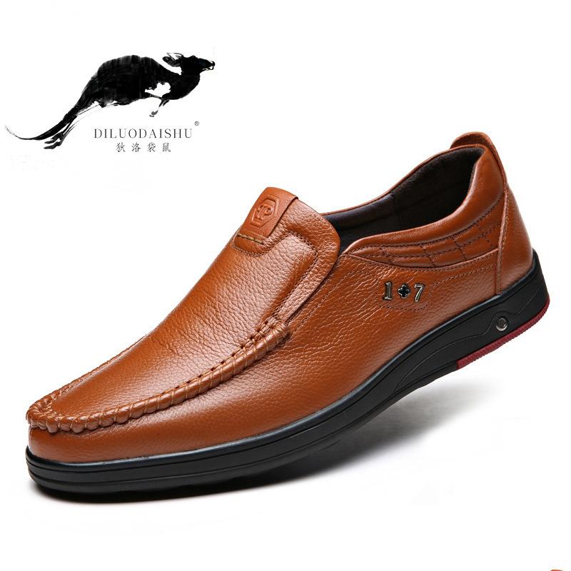 DLDS Giày da nam Giày công sở nam Giày công sở thời trang nam Giày thoáng khí Anh một chân đặt giày