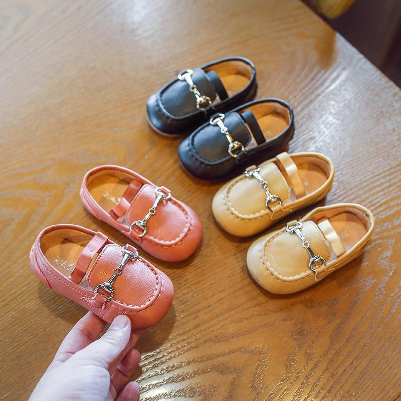 XIAOMIBU Giày mọi Gommino Giày đế bệt cho bé gái đế xuồng nhỏ bé 2019 mùa thu mới mềm đế giày trẻ em