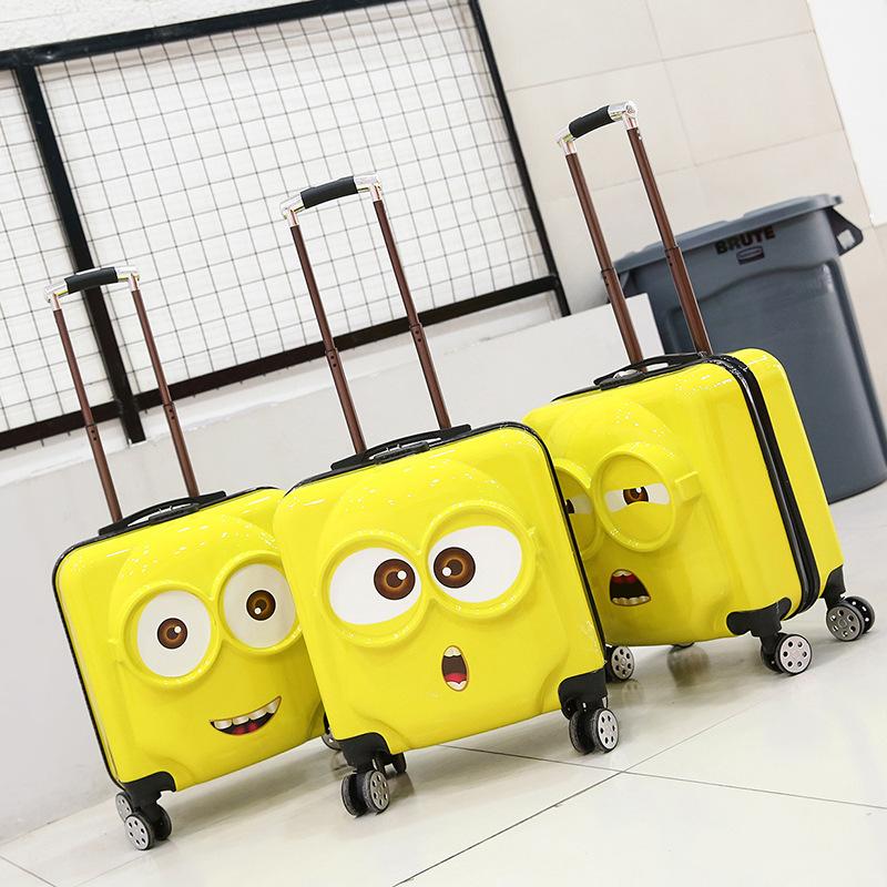 Vali dành cho Trẻ em kiểu xe đẩy hình hoạt hình dễ thương .