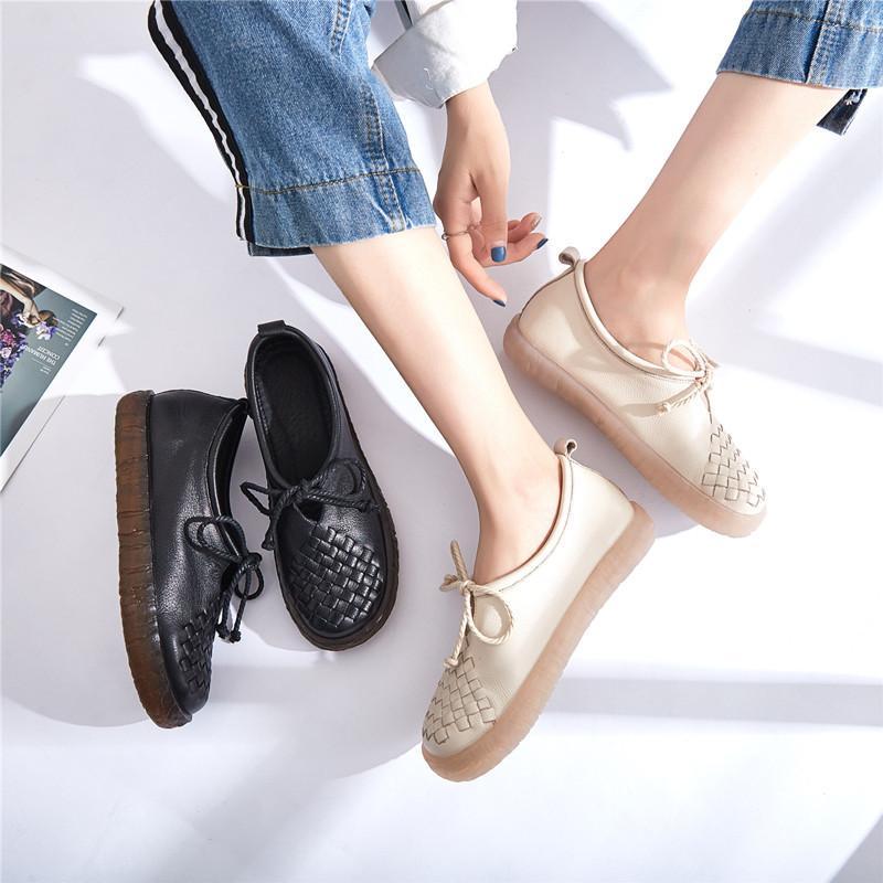 Giày da nữ handmade nguyên bản mới