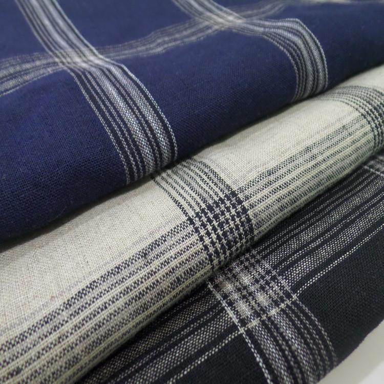 Vải Linen vải lanh tinh khiết vải lanh vải lanh kẻ sọc bông vải lanh kẻ sọc áo sơ mi vải kẻ sọc