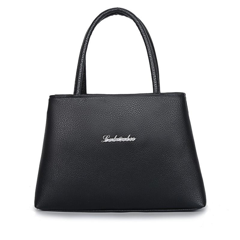 Túi xách Nhà máy bán hàng trực tiếp PU túi xách màu rắn trung niên và cao tuổi phụ nữ sơn mài dây ké