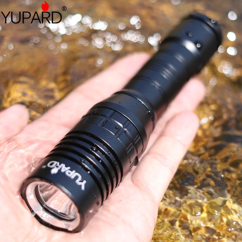 Yupard Thiết bị chiếu sáng L2 chói dưới nước không thấm nước lặn trắng ánh sáng vàng ánh sáng dài L2