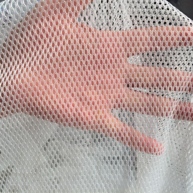 MENGFA Vải lưới Nhà máy trực tiếp polyester lưới vải dệt kim lưới thấm tại chỗ vải đồng phục trường