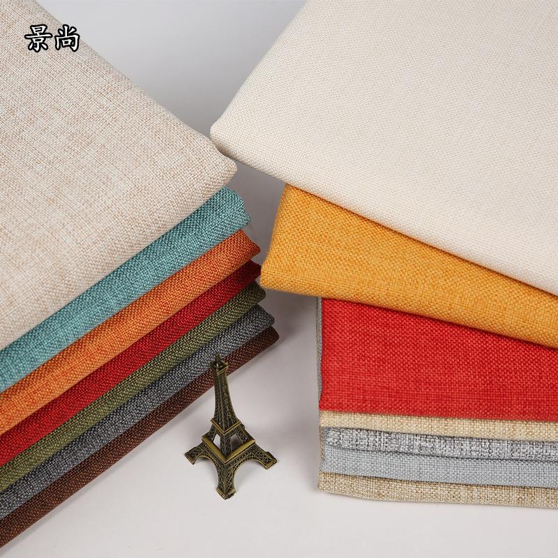 JINGSHANG Vải Linen Nhà máy vải lanh bán buôn cao cấp vải lanh dày vải sofa hai mặt vải mềm túi nền