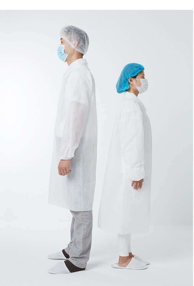 Trang phục bảo hộ Yuxing thickened disposable non-woven gown clean area dust-free workshop visit clo