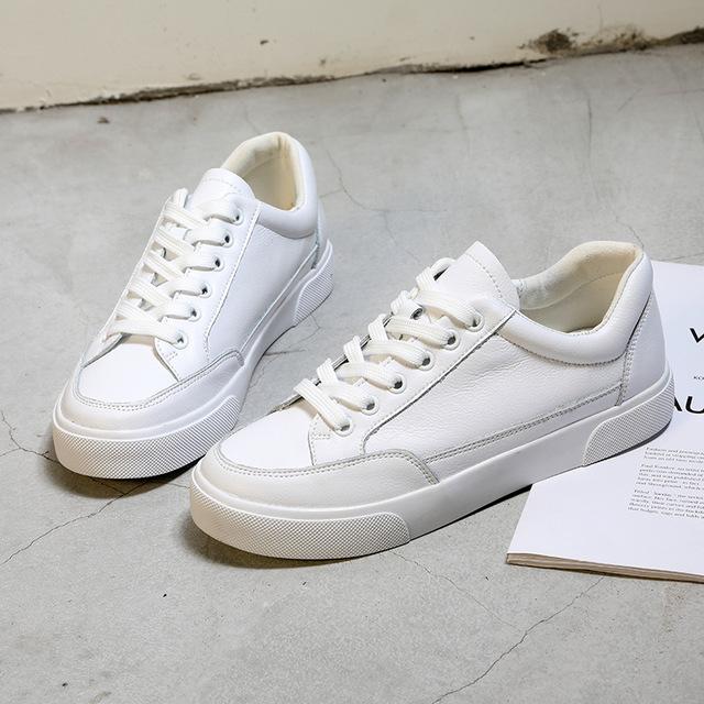 ZUZI Giày Sneaker / Giày trượt ván Giày da nữ nhỏ màu trắng 2019 xuân mới Hàn Quốc một nghìn lẻ một