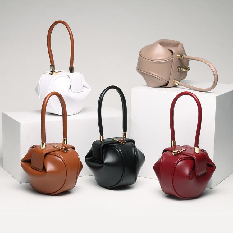 Túi xách 2019 túi da phụ nữ thích hợp thiết kế túi xách thời trang châu Âu và Mỹ bánh bao retro bánh