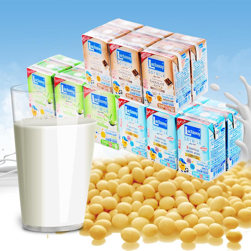LIDASHI Máy làm kem, sữa chua, đậu nành Thái Lan Nhập khẩu sữa đậu nành Lishi 125ml * 6 hộp dinh dưỡ