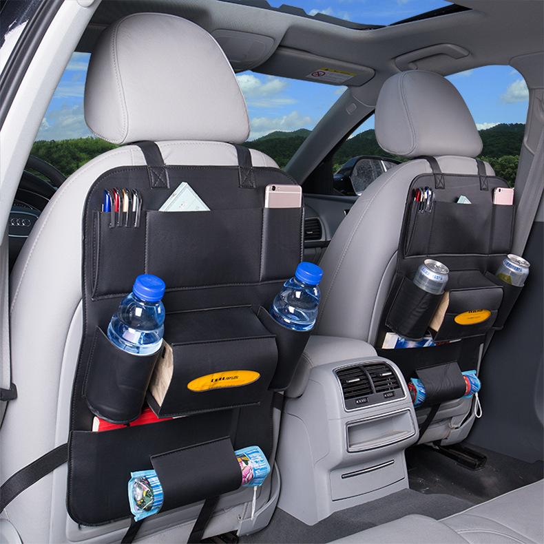 Túi treo lưu trữ đồ cho ghế sau xe hơi bằng da.
