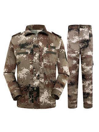 CHOREUSY Áo nguỵ trang lính Ngụy trang phù hợp với nam giới mùa xuân và mùa thu sa mạc quần áo huấn