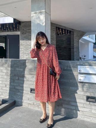 Phong cách Hàn Quốc  Cộng với size nữ 2020 xuân mới chất béo MM lỏng lẻo cộng với áo cổ chữ V kiểu d