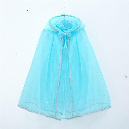 Áo choàng trẻ em  Cô gái bên ngoài phù thủy áo choàng trẻ em khăn choàng tuyết và băng tình yêu saki