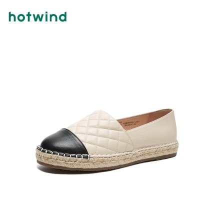 Giày da một lớp  Gió nóng / Gió nóng 2020 mới mùa xuân nước hoa nhỏ gió người đánh giày giày vải nữ