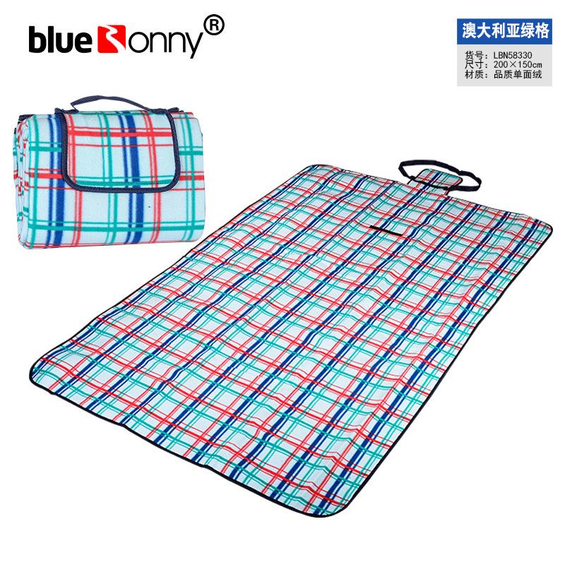 Thảm lót Cắm trại ngoài trời da lộn không thấm nước màng nhôm chống ẩm