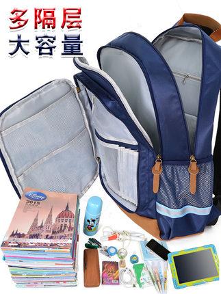Disney Cặp học sinh Hot  schoolbag học sinh 1-3-6 lớp ba đến lớp sáu vai trẻ em giảm tải cột sống nh
