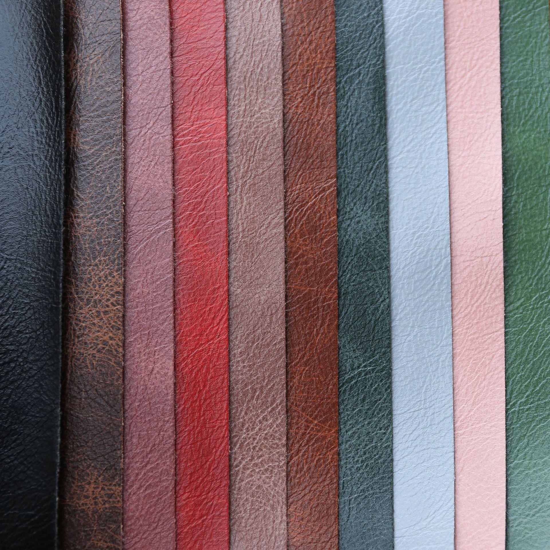 ALD Vật liệu da Tại chỗ bán buôn vải PVC da retro hai màu sofa da nhân tạo chất liệu hành lý vỡ nứt