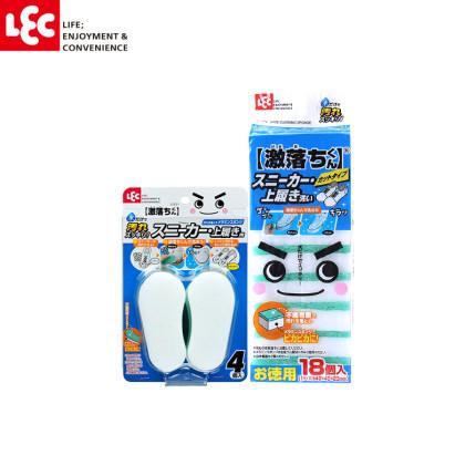 LEC Mút  Nhật Bản LEC sharp drop Jun ma thuật lau giầy nhỏ giày trắng đặc biệt lau giày không dễ làm