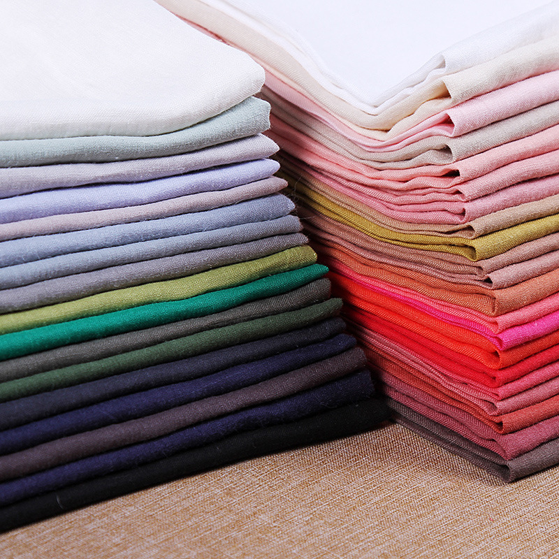 Qingyi Vải Hemp ( Ramie) new ramie vải đồng bằng cát giặt áo sơ mi váy quần giày giày quần áo vải