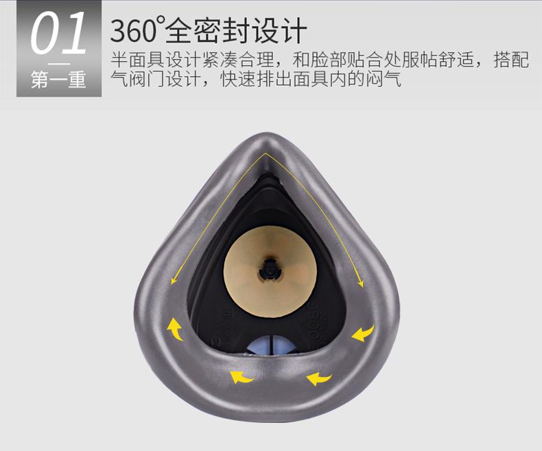 Mặt nạ phòng chống khí độc 3M gas mask spray paint chemical gas anti spray odor formaldehyde paint d