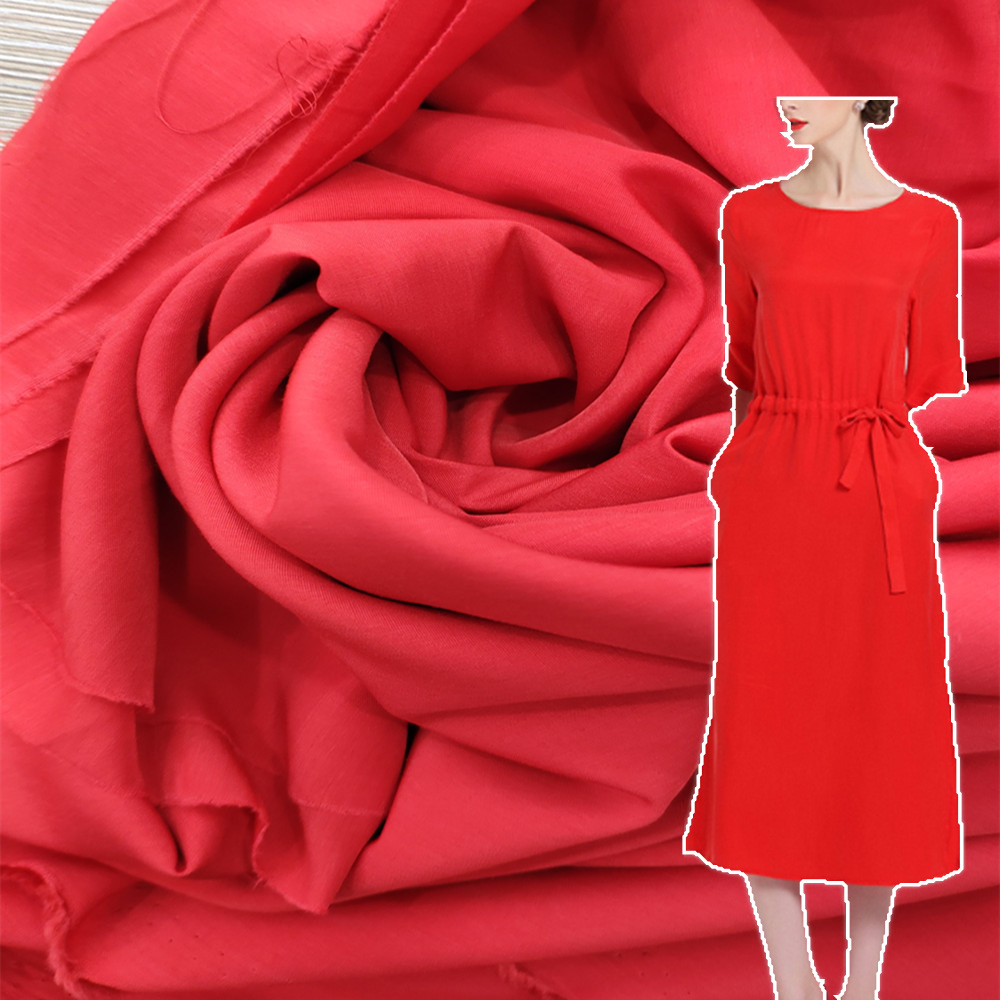 XIAOFENG Vải cotton pha polyester Tại chỗ mật độ cao giả đồng amoniac lụa tơ tằm dệt vải polyester t