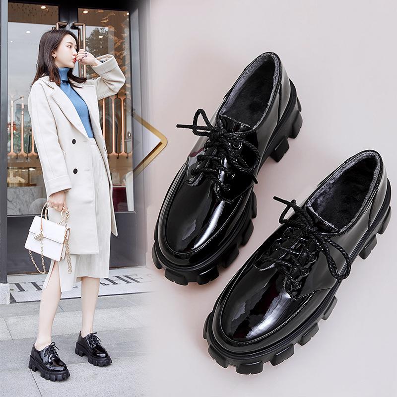 AITAOLIAN giày bánh mì / giày Platform Giày nữ mùa thu đông 2019 đế dày mới phong cách Anh Giày đơn