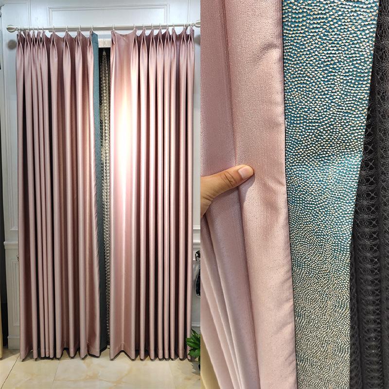 Vải rèm cửa Mùa thu mới chính xác cao jacquard vải bóng cao hiện đại ánh sáng sang trọng đơn giản ph