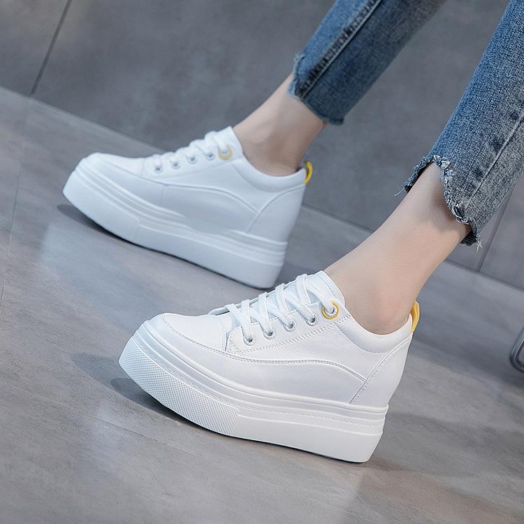 Giày bánh mì Giày đế thấp 2019 của phụ nữ hoang dã là giày da mỏng mùa thu thoáng khí đế dày có đế d