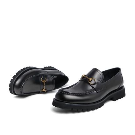 Belle Giày Loafer / giày lười Giày nam cao cổ mùa xuân 2020 Giày da bò mới Giày da giản dị đế dày tă