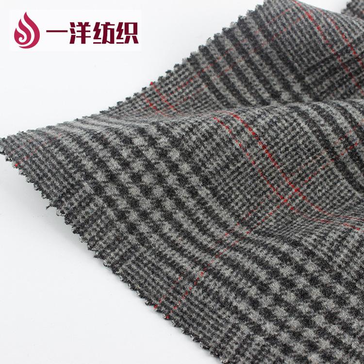 Yiyang Vải dệt may Dệt Spot Bán trực tiếp Hàn Quốc Vải cashmere hai mặt Vải kẻ sọc Vải len
