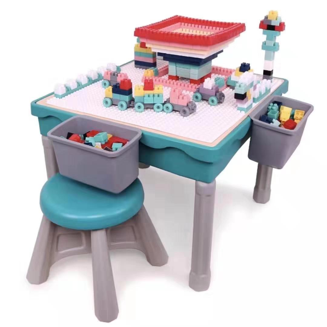 Bộ Bàn Đồ chơi đa năng khối xây dựng lắp ráp giáo dục sớm cho trẻ .
