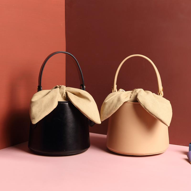 Túi xách nữ thời trang Thiết kế Niche Túi da nữ chính hãng Túi xô nữ 2019 Túi đeo vai mới